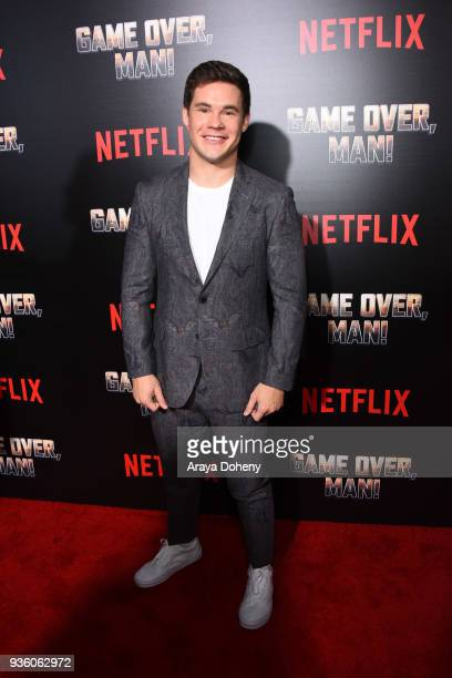 Adam Devine attends the premiere of Netflix's Game Over Man at Regency Village Theatre on March 21 2018 in Westwood California