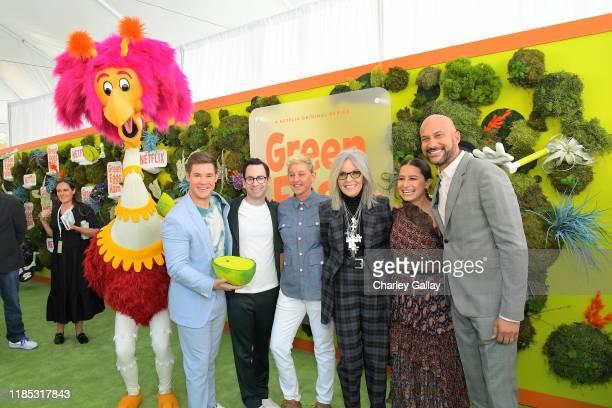 Adam DeVine, Jared Stern, Ellen DeGeneres, Diane Keaton, Ilana Glazer, and Keegan-Michael Key attend Netflix 'Green Eggs & Ham' Los Angeles Premiere...