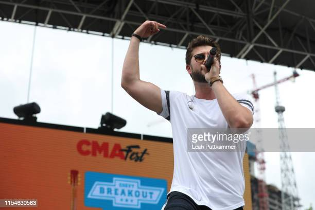 Adam Doleac performs at the Chevy Breakout Stage on Day 3 of the CMA Music Festival on June 08 2019 in Nashville Tennessee