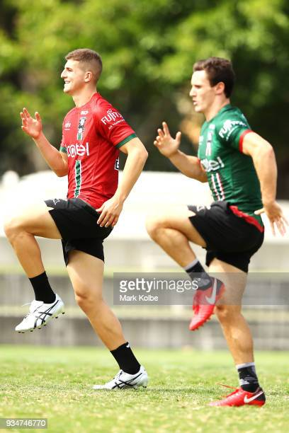 Adam Doueihi runs during a South Sydney Rabbitohs NRL Training Session at Redfern Oval on March 20 2018 in Sydney Australia
