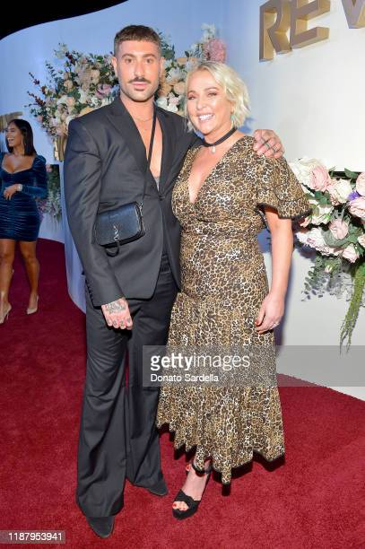 Adam Drawas and SuperShe Island Founder Kristina Roth attend the #REVOLVEawards 2019 at Goya Studios on November 15 2019 in Hollywood California
