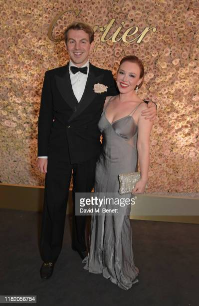 Adam Drew and Daisy Lewis attend The 29th Cartier Racing Awards at The Dorchester on November 12, 2019 in London, England.