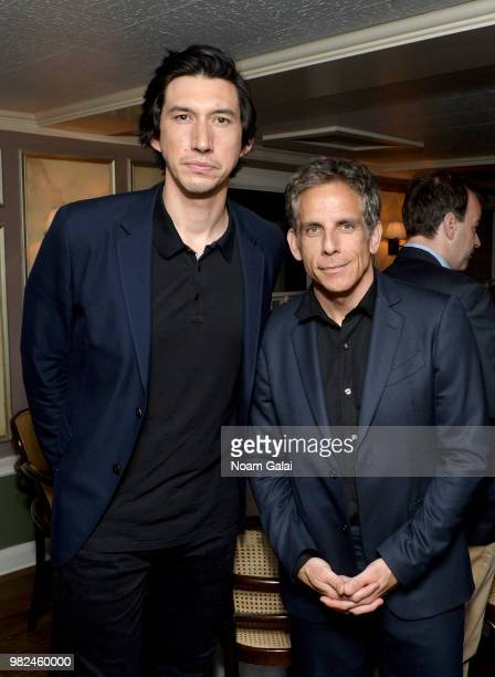 Adam Driver and Ben Stiller attend the Screenwriters Tribute Dinenr at the 2018 Nantucket Film Festival Day 4 on June 23 2018 in Nantucket...