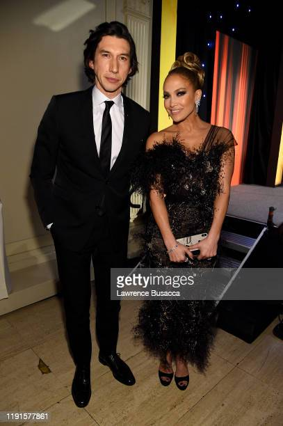 Adam Driver and Jennifer Lopez attend the IFP's 29th Annual Gotham Independent Film Awards at Cipriani Wall Street on December 02, 2019 in New York...