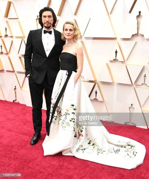 Adam Driver and Joanne Tucker arrives at the 92nd Annual Academy Awards at Hollywood and Highland on February 09, 2020 in Hollywood, California.