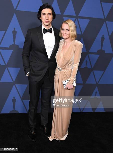 Adam Driver and Joanne Tucker arrives at the Academy Of Motion Picture Arts And Sciences' 11th Annual Governors Awards at The Ray Dolby Ballroom at...