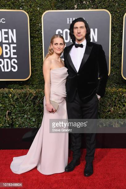 Adam Driver and Joanne Tucker attend the 76th Annual Golden Globe Awards at The Beverly Hilton Hotel on January 6 2019 in Beverly Hills California