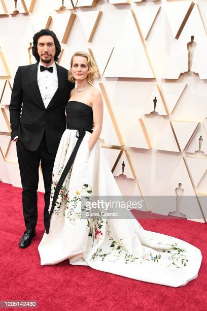Adam Driver and Joanne Tucker attend the 92nd Annual Academy Awards at Hollywood and Highland on February 09, 2020 in Hollywood, California.