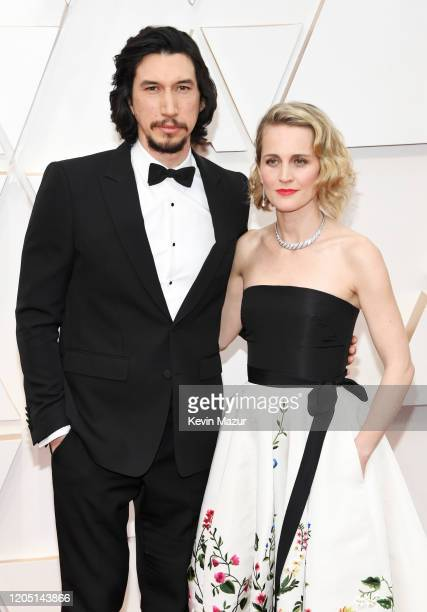 Adam Driver and Joanne Tucker attend the 92nd Annual Academy Awards at Hollywood and Highland on February 09 2020 in Hollywood California