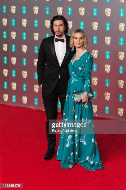 Adam Driver and Joanne Tucker attend the EE British Academy Film Awards ceremony at the Royal Albert Hall on 02 February, 2020 in London, England.-...