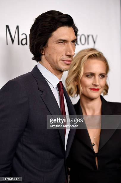 Adam Driver and Joanne Tucker attend the Marriage Story premiere at 57th New York Film Festival on October 04 2019 in New York City