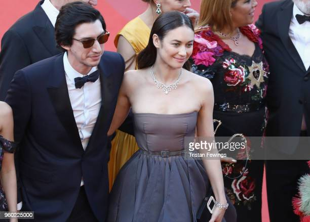 Adam Driver and Olga Kurylenko attend the screening of 'The Man Who Killed Don Quixote' and the Closing Ceremony during the 71st annual Cannes Film...