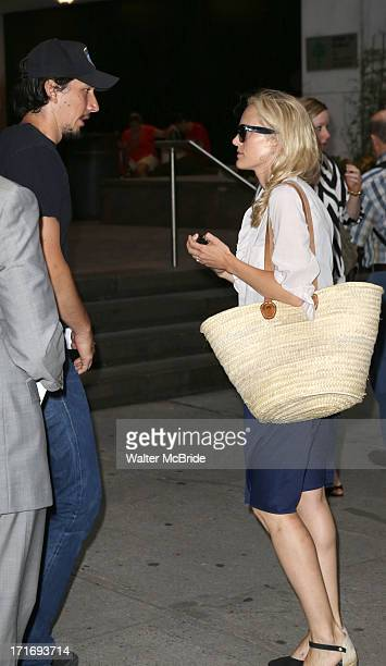 Adam Driver and wife Joanne Tucker attend The Unavoidable Disappearance Of Tom Durnin Opening Night at Laura Pels Theatre on June 27 2013 in New York...