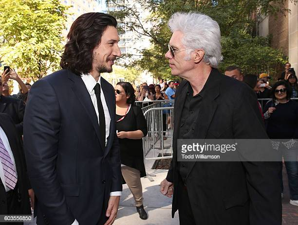 "Adam Driver and Writer/director Jim Jarmusch attend the premiere of Amazon Studios' ""Paterson"" at the Toronto International Film at Ryerson Theatre..."