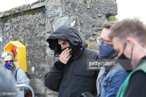 Adam Driver arrives on set to film 'The Last Duel' at on September 29, 2020 in Cahir, Co.Tipperary.
