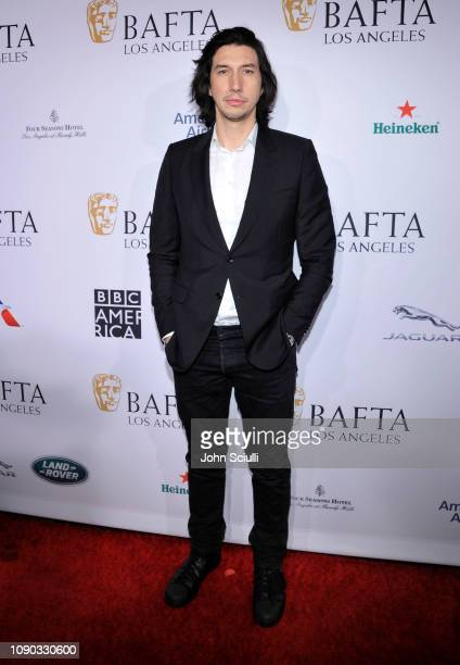 Adam Driver arrives to the BAFTA Tea Party at The Four Seasons Hotel Los Angeles at Beverly Hills on January 05, 2019 in Beverly Hills, California.