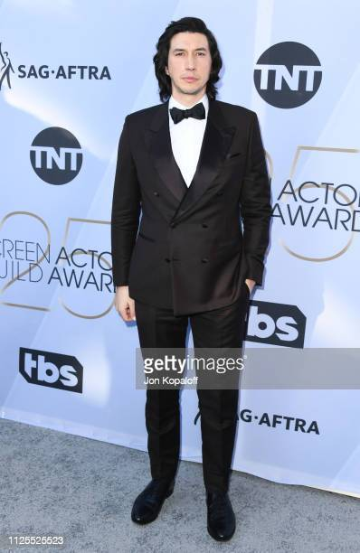 Adam Driver attends 25th Annual Screen Actors Guild Awards at The Shrine Auditorium on January 27 2019 in Los Angeles California