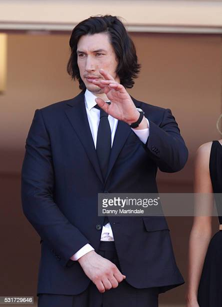 Adam Driver attends a screening of 'Paterson' at the annual 69th Cannes Film Festival at Palais des Festivals on May 16 2016 in Cannes France