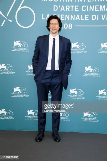 """Adam Driver attends """"Marriage Story"""" photocall during the 76th Venice Film Festival at Sala Grande on August 29, 2019 in Venice, Italy."""