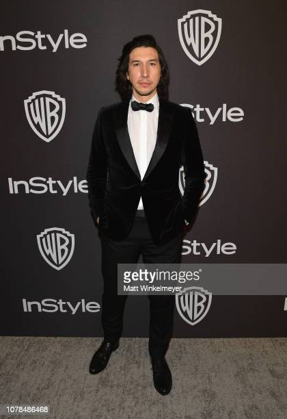 Adam Driver attends the 2019 InStyle and Warner Bros 76th Annual Golden Globe Awards PostParty at The Beverly Hilton Hotel on January 6 2019 in...