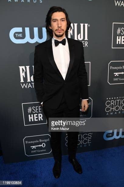 Adam Driver attends the 25th Annual Critics' Choice Awards at Barker Hangar on January 12, 2020 in Santa Monica, California.