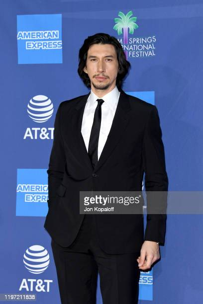 Adam Driver attends the 31st Annual Palm Springs International Film Festival Film Awards Gala at Palm Springs Convention Center on January 02 2020 in...