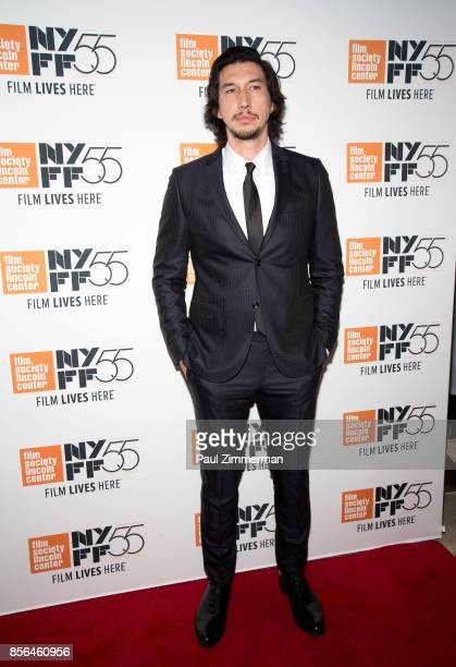 Adam Driver attends the 55th New York Film Festival 'Meyerowitz Stories' at Alice Tully Hall on October 1 2017 in New York City