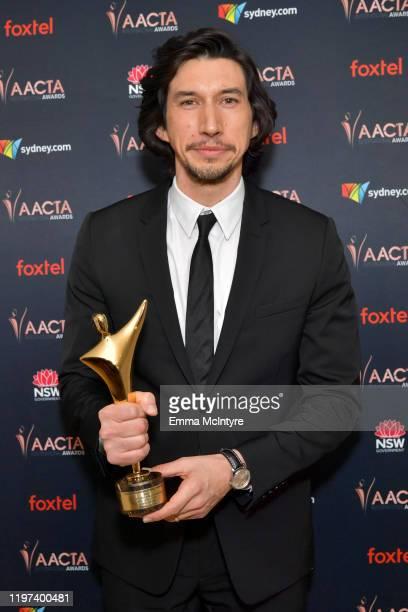 Adam Driver attends the 9th Annual Australian Academy Of Cinema And Television Arts International Awards at SkyBar at the Mondrian Los Angeles on...