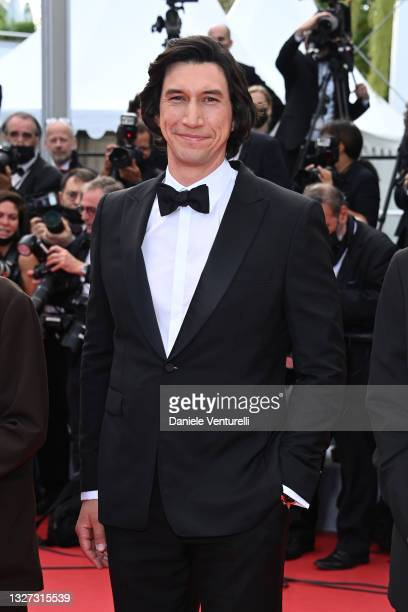"""Adam Driver attends the """"Annette"""" screening and opening ceremony during the 74th annual Cannes Film Festival on July 06, 2021 in Cannes, France."""