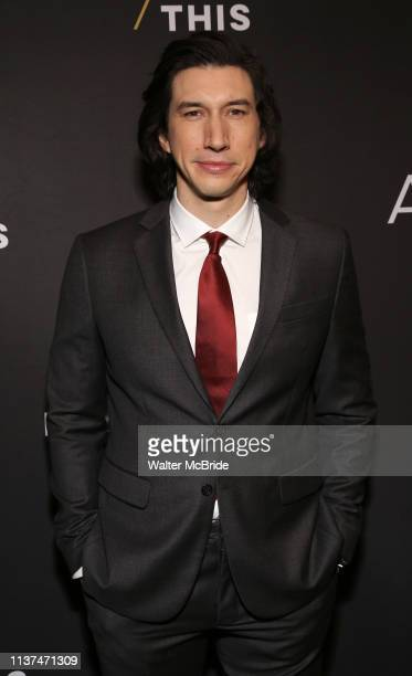 Adam Driver attends the Broadway Opening Celebration for Landford Wilson's Burn This at Hudson Theatre on April 15 2019 in New York City