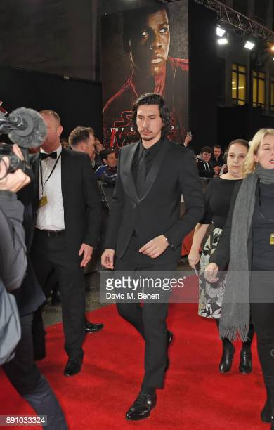 Adam Driver attends the European Premiere of 'Star Wars The Last Jedi' at the Royal Albert Hall on December 12 2017 in London England
