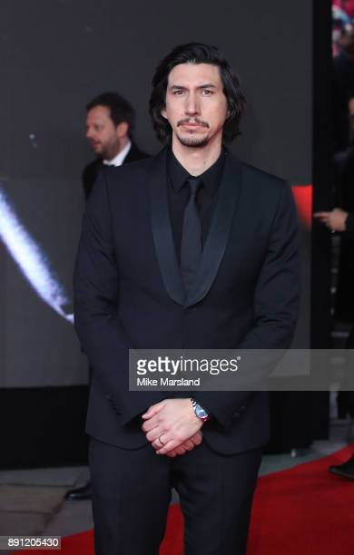 Adam Driver attends the European Premiere of 'Star Wars The Last Jedi' at Royal Albert Hall on December 12 2017 in London England