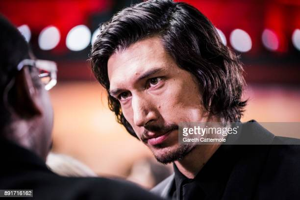 Adam Driver attends the European Premiere of Star Wars The Last Jedi at the Royal Albert Hall on December 12 2017 in London England