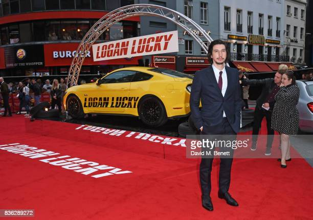 Adam Driver attends the 'Logan Lucky' UK Premiere at Vue West End on August 21 2017 in London England