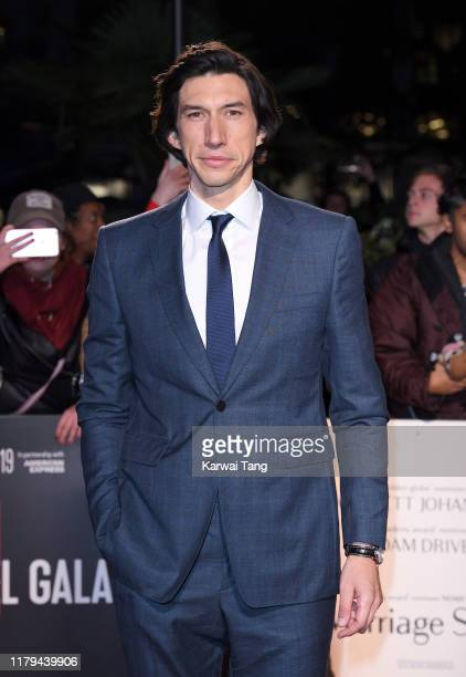 "Adam Driver attends the ""Marriage Story"" UK Premiere during the 63rd BFI London Film Festival at the Odeon Luxe Leicester Square on October 06, 2019..."