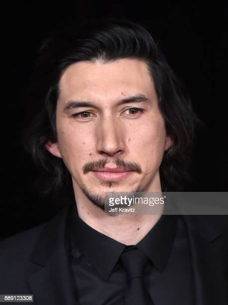 Adam Driver attends the premiere of Disney Pictures and Lucasfilm's 'Star Wars The Last Jedi' at The Shrine Auditorium on December 9 2017 in Los...