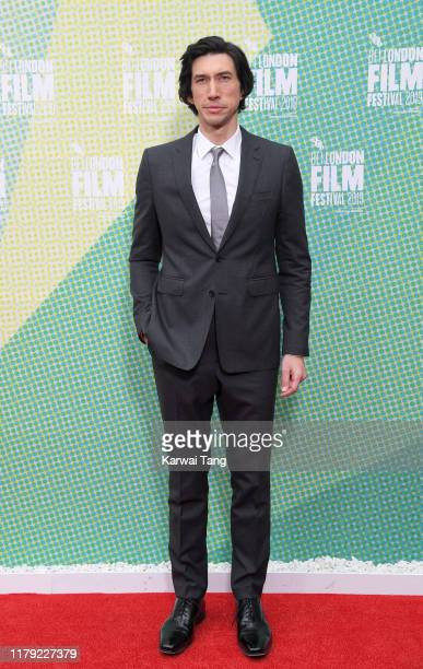 Adam Driver attends The Report European Premiere during the 63rd BFI London Film Festival at Embankment Gardens Cinema on October 05 2019 in London...
