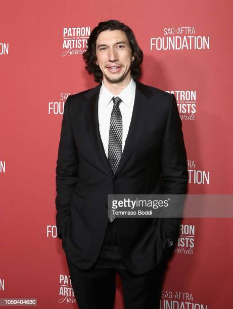 Adam Driver attends the SAGAFTRA Foundation's 3rd Annual Patron of the Artists Awards at the Wallis Annenberg Center for the Performing Arts on...