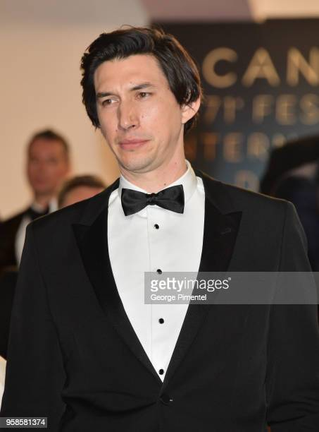 Adam Driver attends the screening of 'BlacKkKlansman' during the 71st annual Cannes Film Festival at Palais des Festivals on May 14 2018 in Cannes...
