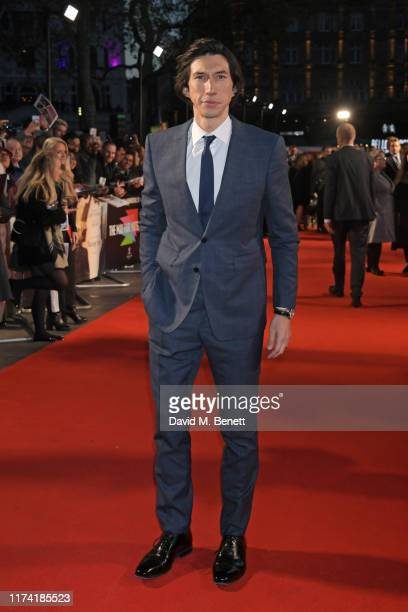 "Adam Driver attends the UK Premiere of ""Marriage Story"" during the 63rd BFI London Film Festival at Odeon Luxe Leicester Square on October 6, 2019 in..."