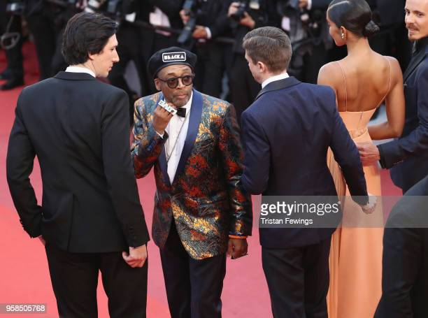 Adam Driver director Spike Lee Topher Grace Laura Harrier and Jasper Paakkonen attend the screening of 'BlacKkKlansman' during the 71st annual Cannes...
