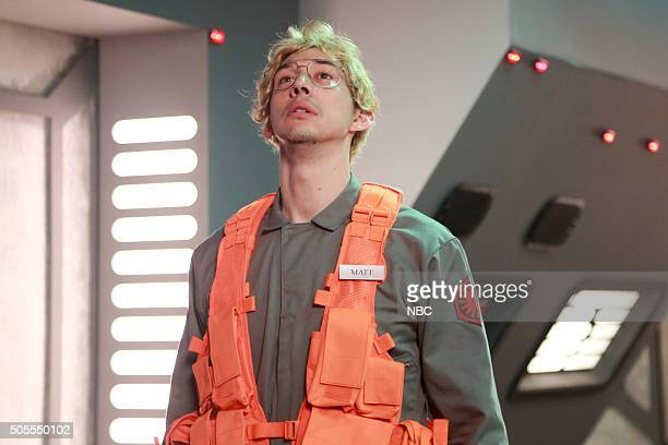 "Adam Driver"" Episode 1693 -- Pictured: Adam Driver as Kylo Ren during the ""Undercover Boss: Starkiller Base"" sketch on January 16, 2016 --"