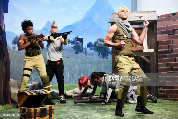 LIVE Adam Driver Episode 1747 Pictured Ego Nwodim Heidi Gardner Chris Redd Mikey Day during Fortnite Squad in Studio 8H on Saturday September 29 2018