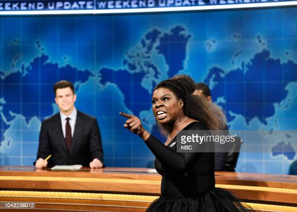 LIVE Adam Driver Episode 1747 Pictured Leslie Jones as Serena Williams during Weekend Update in Studio 8H on Saturday September 29 2018