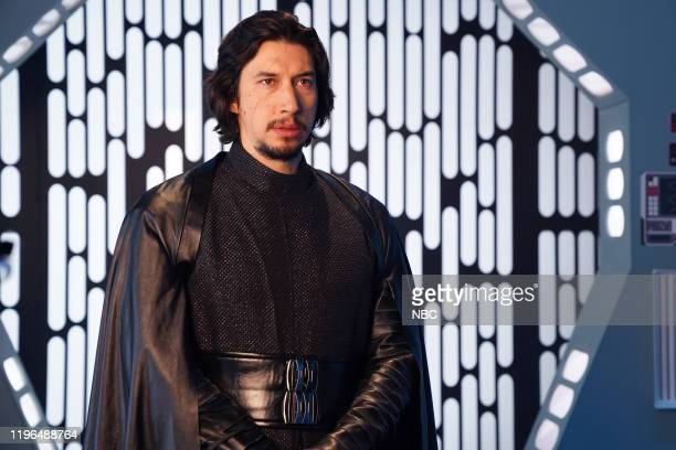 "Adam Driver"" Episode 1778 -- Pictured: Host Adam Driver as Kyle Ren during the ""Undercover Boss: Where Are They Now"" sketch on Saturday, January 25,..."