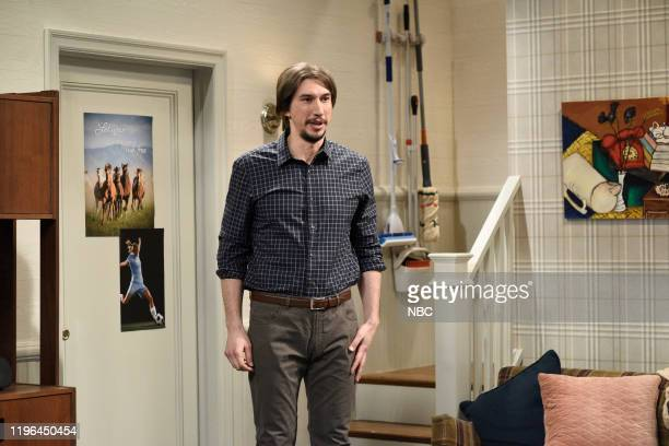 LIVE Adam Driver Episode 1778 Pictured Host Adam Driver during the Sleepover sketch on Saturday January 25 2020