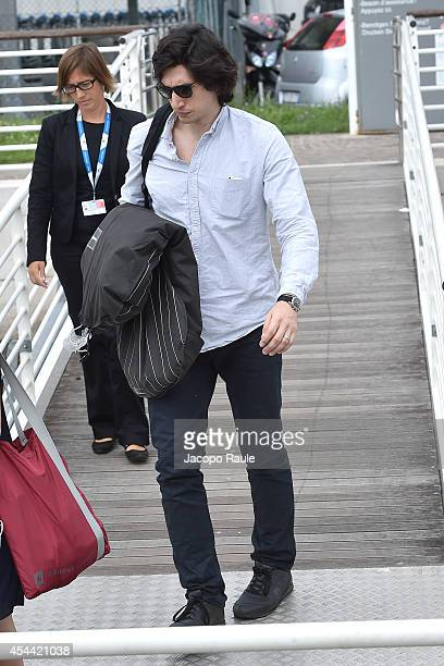 Adam Driver is seen arriving at Venice Airport during The 71st Venice International Film Festival on August 31 2014 in Venice Italy