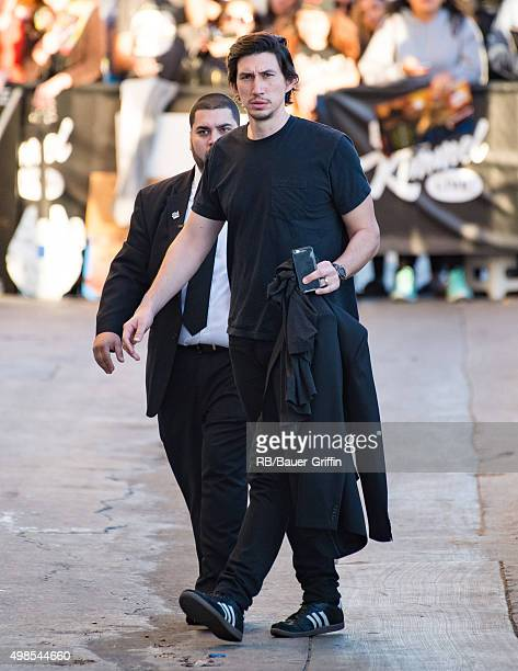 Adam Driver is seen at 'Jimmy Kimmel Live' on November 23 2015 in Los Angeles California