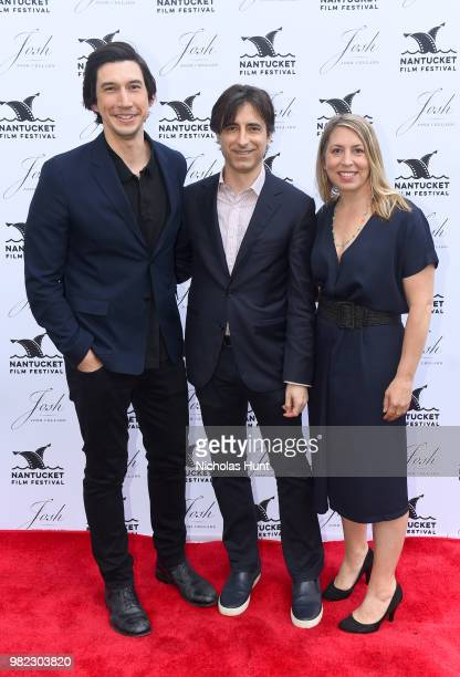 Adam Driver Noah Baumbach and Mystelle Brabbee attend the Screenwriters Tribute at the 2018 Nantucket Film Festival Day 4 on June 23 2018 in...