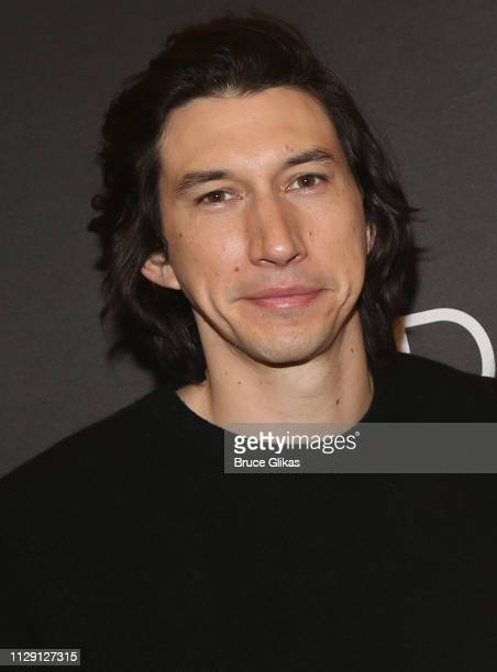 Adam Driver poses at a photo call for the revival of the Lanford Wilson play Burn This at The New 42nd Street Studios on March 7 2019 in New York City